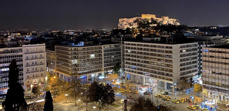 Chalkmarks: Acropolis at night