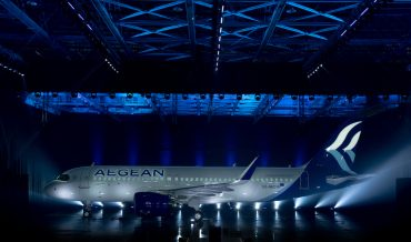 Valentine's Day surprise forAEGEANpassengers as airline's new A320neo takes to the skies