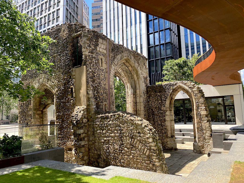 Chalkmarks Roman wall London