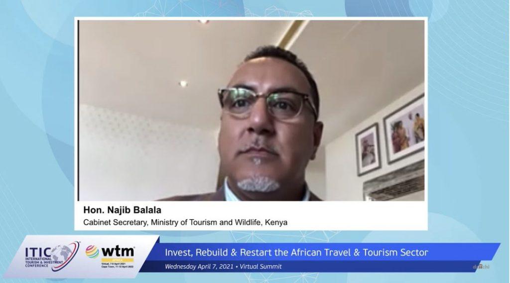 Najib Balala, Kenyan cabinet secretary for tourism and wildlife