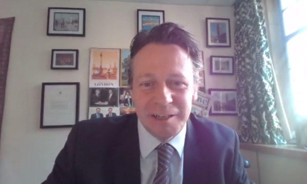 Chalkmarks: Tourism Minister Nigel Huddleston