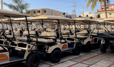 Golf buggies for all on Isla Mujeres!